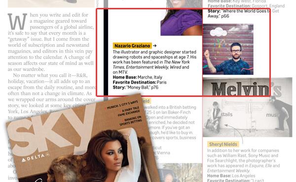 Nazario Graziano - I'm on Delta Sky Magazine