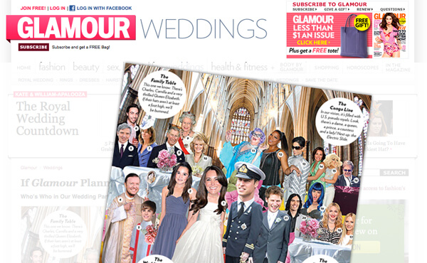 "Nazario Graziano - For Glamour – ""Royal Wedding"""