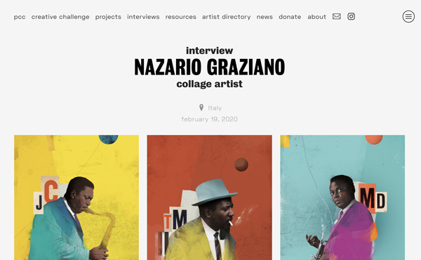 Nazario Graziano - Interview for Paris Collage Collective